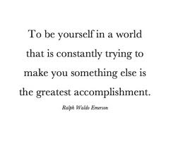 be yourself emerson quote